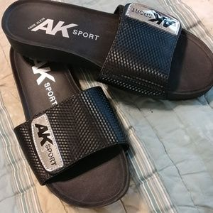Anne Klein sport sandals (slides) black size 7.5m
